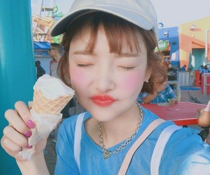 asian, blue, and ice cream image
