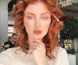 redhead, blue eyes, and ginger image