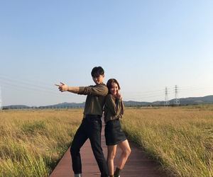 couple, fashion, and field image