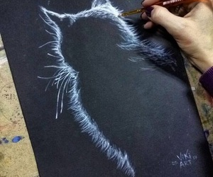 art, animal, and cat image