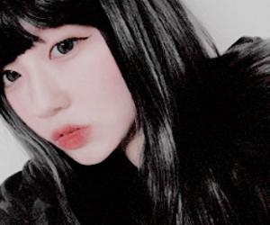 asian girl, korean girl, and edit image