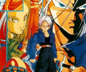 bulma, hope, and trunks image