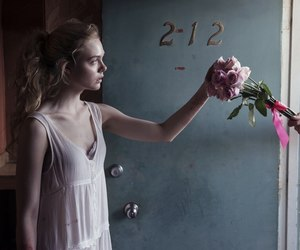 Elle Fanning, flowers, and the neon demon image