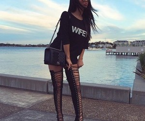 fashion, street style, and black outfit image