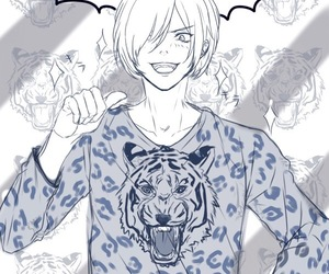 anime, lovely, and tiger image