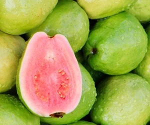 green, tropical, and fruit image