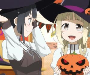 anime, Halloween, and pumpkin image