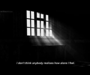 alone and suicide image