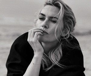 black & white and kate winslet image