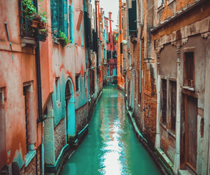 pink, teal, and travel image