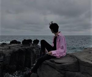 boy, korean, and sea image