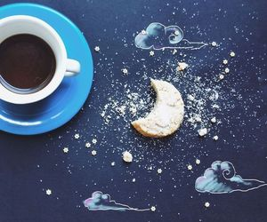 coffee, art, and blue image