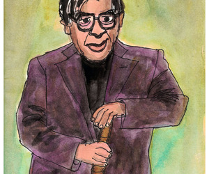 caricature, illustration, and poet image