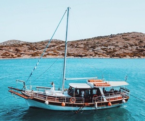 bay, boat, and nature image