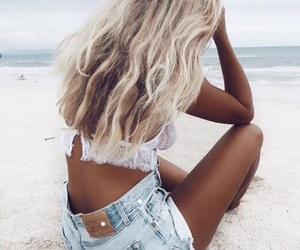 beach, beauty, and dark skin image