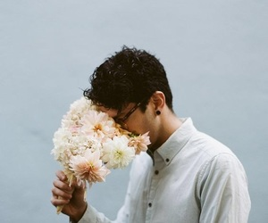 flowers, boy, and vintage image