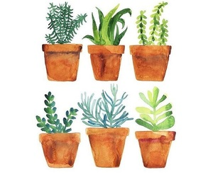 plants, art, and green image