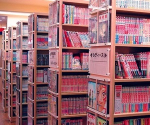 japan, manga, and books image