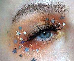 makeup, stars, and eyes image