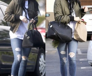 casual, long hair, and ripped jeans image