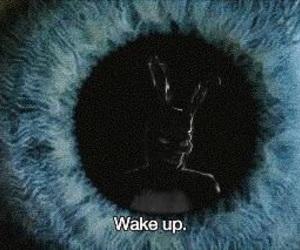 eye, wake up, and blue image