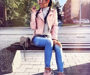 fur, grey, and outfit image