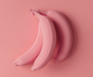 pink, banana, and aesthetic image