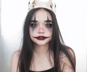 Halloween, clown, and dark image