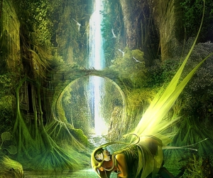 enchanted, forrest, and green image