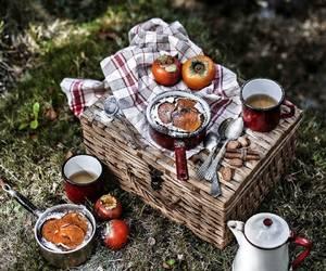 basket, cake, and coffee image