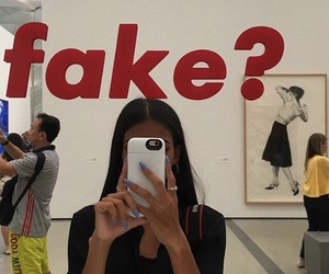 fake, girl, and aesthetic image