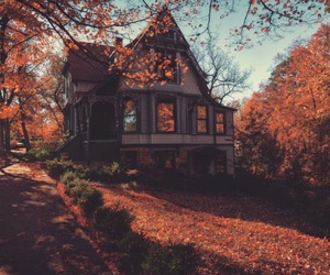 autumn, house, and fall image