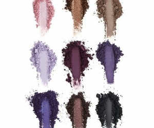 cosmetics, purple, and eyeshadows image