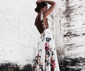 classy, dress, and floral image