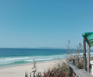 beach, blue, and portugal image
