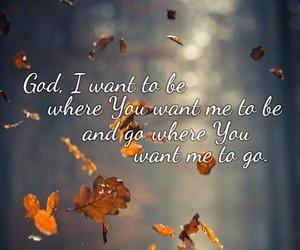 autumn, faith, and god image