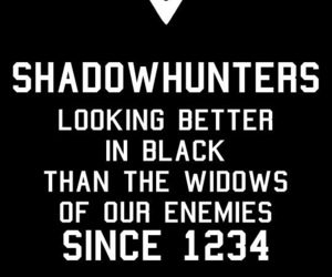 black, quote, and shadowhunters image