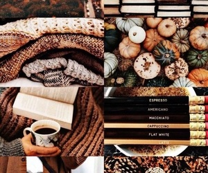 fall, book, and autumn image