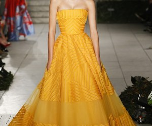 elie saab, fashion, and yellow dress image