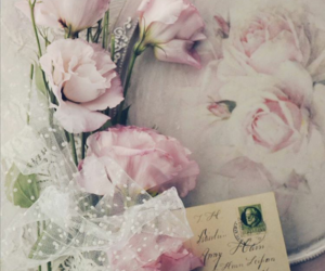 flowers, Letter, and old image