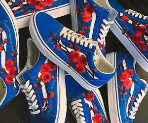 shoes, vans, and blue image