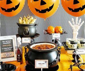 Halloween, pumpkin, and spider image