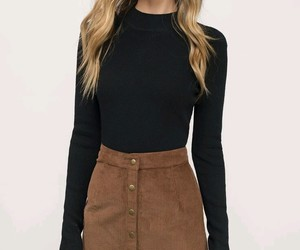 outfit, skirt, and black image