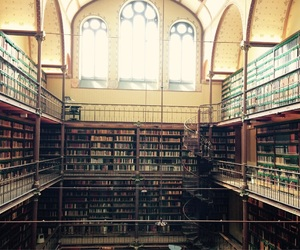 amsterdam, book, and library image