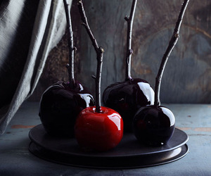 apple, black, and Halloween image
