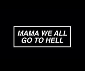 mama, black, and Lyrics image