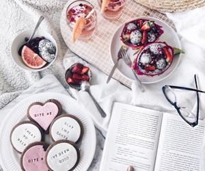 Cookies, book, and food image