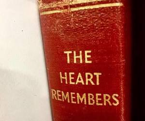 book, heart, and red image