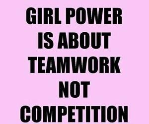 girl power, pink, and teamwork image