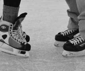 couple, love, and hockey image